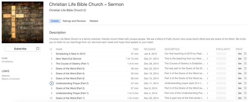 CLBC on iTunes